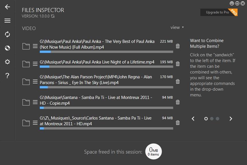 Files Inspector - gestionnaire d'espace disque