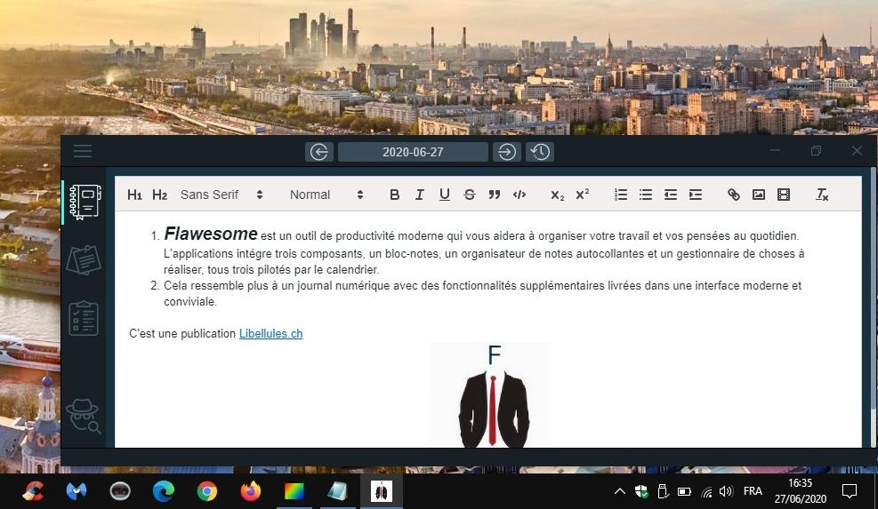 Flawesome  - un gestionnaire d'activité personnelle