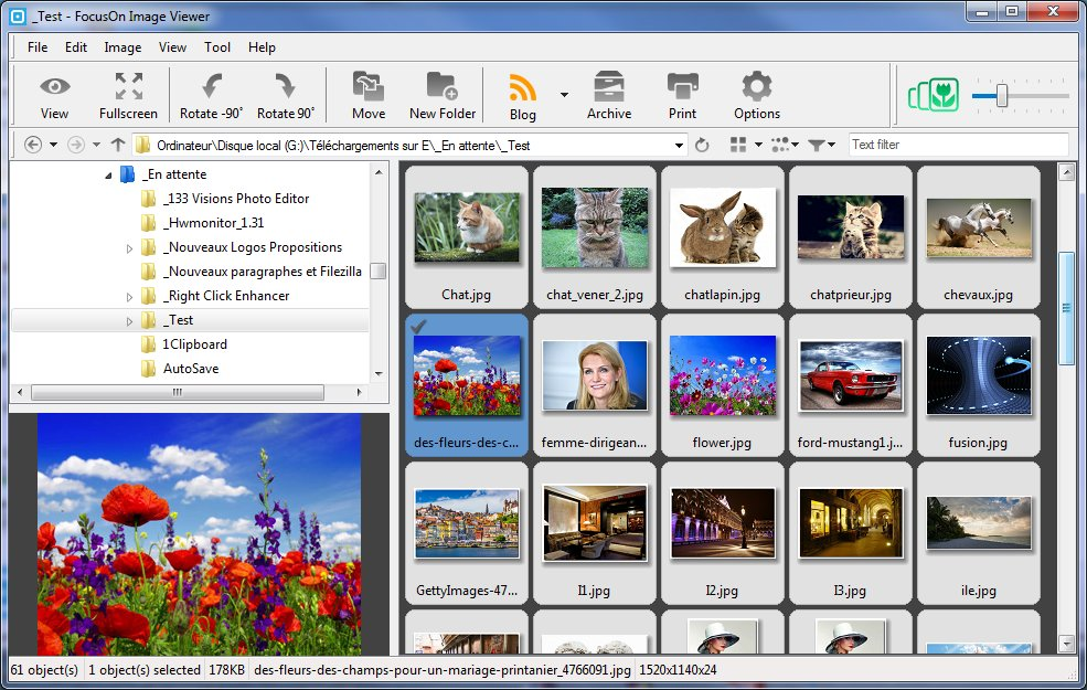 FocusOn Image Viewer - visualiseur/éditeur intuitif, photos