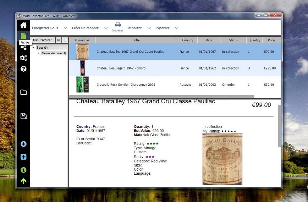 Multi Collector Free - Base de données pour collectionneur