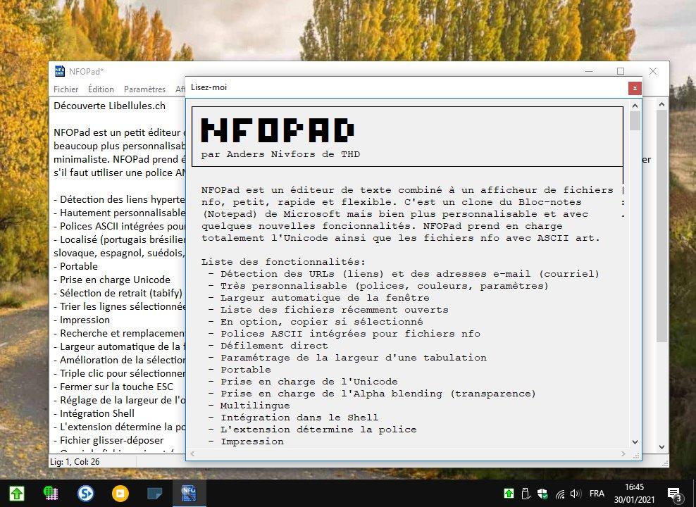 NFOPad - Bloc-Notes performant et personnalisable