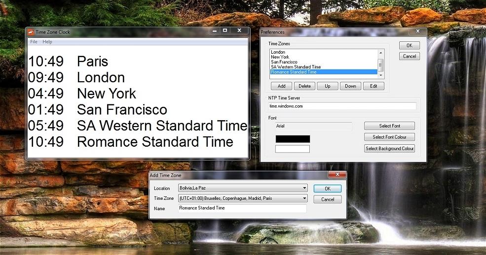 NTP Time Zone Clock - l'heure partout sur le globe