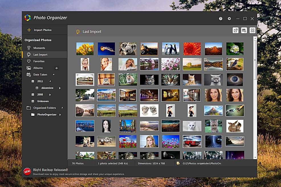 Photo Organizer - organiser facilement vos photos
