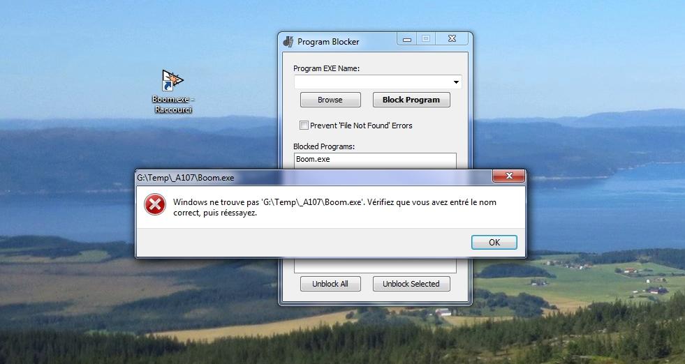 Program Blocker  /> pour interdire le démarrage d'un logiciel