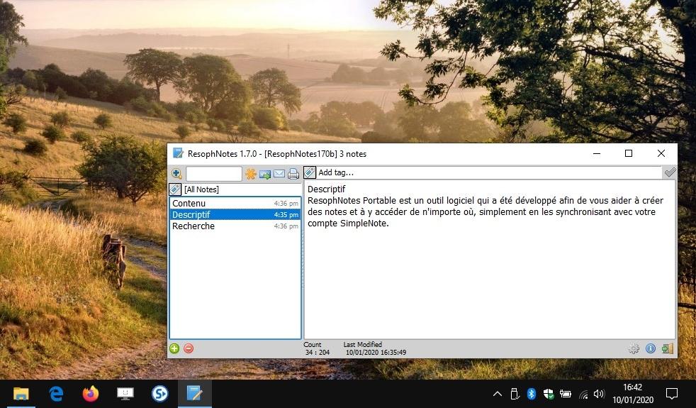 ResophNotes Portable - Notes rapides sur Windows