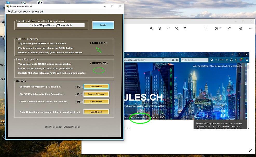 Screenshot Controller - capture d'écran avec flèche/cercle