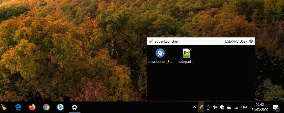 Super Launcher - lanceur d'application en administrateur