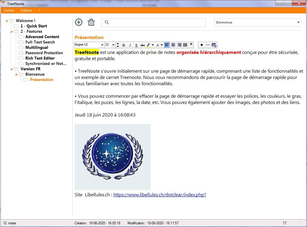 TreeNoote - prise de notes organisée hiérarchiquement