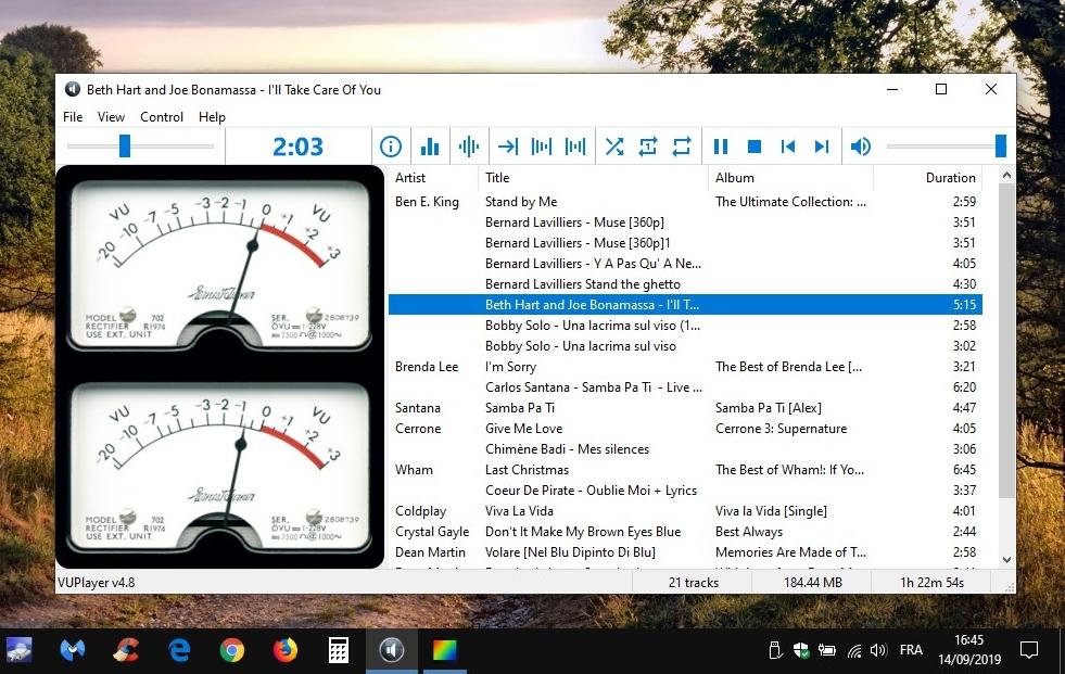 VUPlayer4 - lecteur audio léger Open Source
