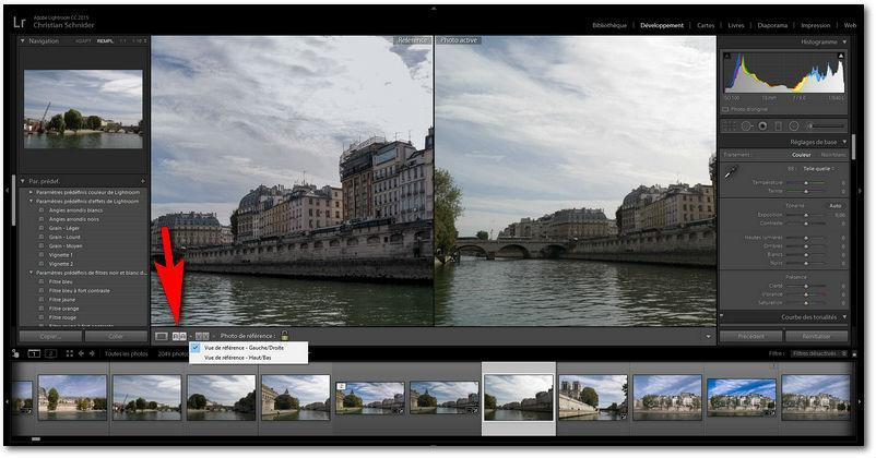 Lightroom 2015.8 propose une nouvelle option d'affichage dans le module développement: la vue référence