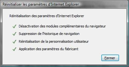 Comment réparer Internet Explorer 7