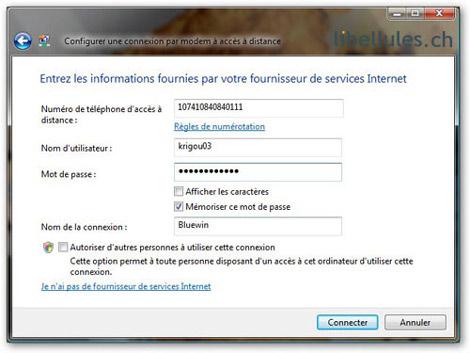 Windows Vista - Créer une connexion d'accès à distance