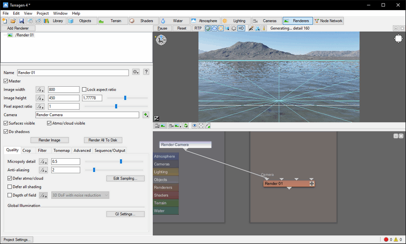 Terragen permet de créer de superbes paysages virtuels en quelques clics de souris