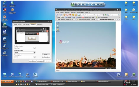 Zune - Un thème pour Windows XP